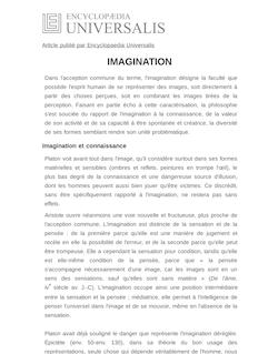 Définition de : IMAGINATION