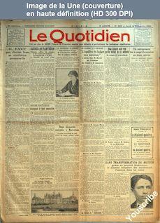 LE QUOTIDIEN  numéro 643 du 13 novembre 1924