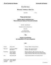 Analyse et classification de manipulateurs 3R à axes orthogonaux