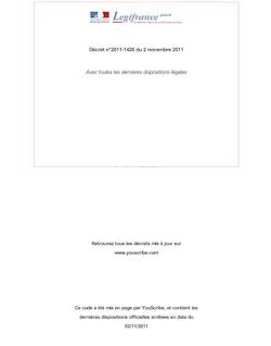 Décret n°2011-1426 du 2 novembre 2011