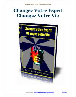 Changez votre esprit, changez votre vie