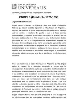 ENGELS (Friedrich) 1820-1895