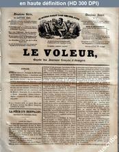 LE VOLEUR  numéro 4 du 20 janvier 1839