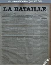 LA BATAILLE  numéro 758 du 10 février 1891