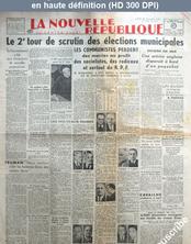 LA NOUVELLE REPUBLIQUE  numéro 971 du 27 octobre 1947