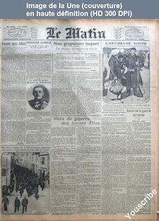 LE MATIN  numéro 11203 du 30 octobre 1914