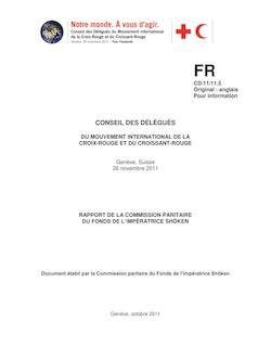 RAPPORT DE LA COMMISSION PARITAIRE DU FONDS DE L ...