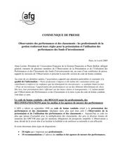 Alain Leclair, Président de l'Association Française de la Gestion  Financière et Pierre Bollon,