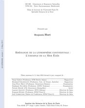 Rhéologie de la lithosphère continentale : L'exemple de la Mer Egée