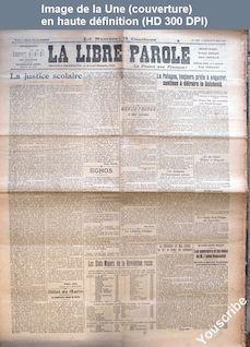 LA LIBRE PAROLE  du 27 août 1920