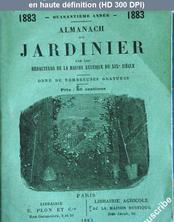 ALMANACH DU JARDINIER du 01 janvier 1883