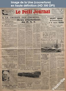LE PETIT JOURNAL  numéro 27700 du 19 novembre 1938