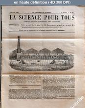 LA SCIENCE POUR TOUS  numéro 37 du 16 août 1860
