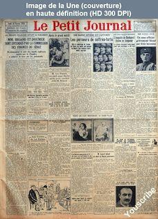 LE PETIT JOURNAL  numéro 23044 du 18 février 1926