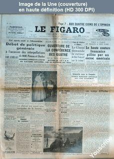 LE FIGARO  numéro 3463 du 26 octobre 1955