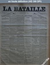 LA BATAILLE  numéro 775 du 27 février 1891