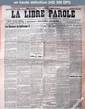 LA LIBRE PAROLE  numéro 6706 du 31 août 1910