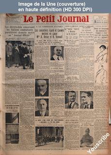 LE PETIT JOURNAL  numéro 26021 du 14 avril 1934