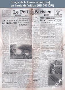 LE PETIT PARISIEN  du 25 octobre 1943