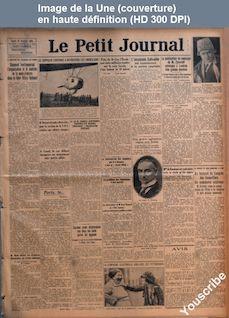 LE PETIT JOURNAL  numéro 22565 du 27 octobre 1924
