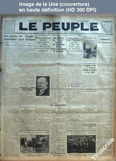 LE PEUPLE  numéro 2869 du 19 novembre 1928