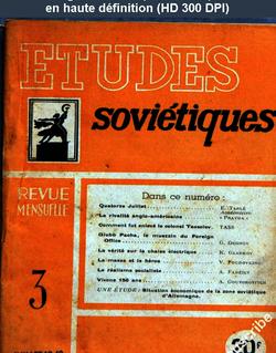 ETUDES SOVIETIQUES numéro 3 du 01 juillet 1948