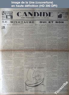 CANDIDE numéro 374 du 14 mai 1931