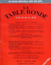 LA TABLE RONDE  numéro 90 du 01 juin 1955