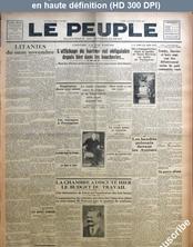 LE PEUPLE  numéro 2496 du 11 novembre 1927