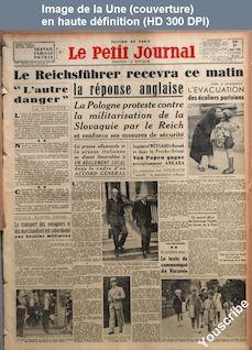 LE PETIT JOURNAL  numéro 27983 du 31 août 1939