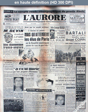 L' AURORE  numéro 1508 du 19 juillet 1949