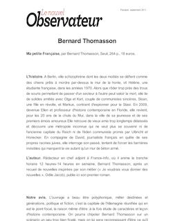 Bernard Thomasson