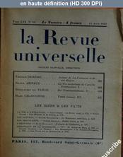 LA REVUE UNIVERSELLE  numéro 10 du 15 août 1927
