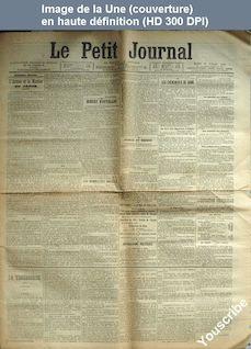 LE PETIT JOURNAL  numéro 13710 du 10 juillet 1900