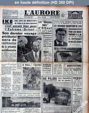 L' AURORE  numéro 4903 du 13 juin 1960