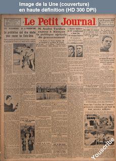 LE PETIT JOURNAL  numéro 24728 du 29 septembre 1930