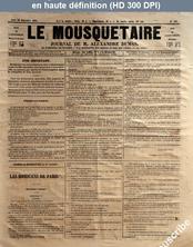 LE MOUSQUETAIRE  numéro 307 du 28 septembre 1854