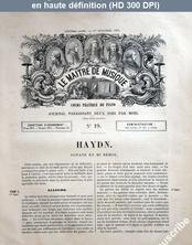 LE MAITRE DE MUSIQUE  numéro 19 du 01 octobre 1876