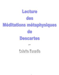 Introduction aux Méditations Métaphysiques de Descartes