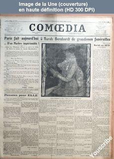 COMOEDIA numéro 3755 du 29 mars 1923