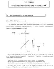Cours PC Brizeux42 TP COURS Interféromètre de Michelson