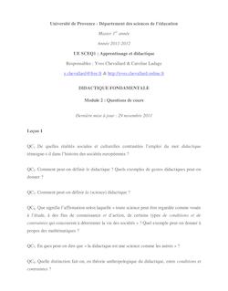 Université de Provence - Département des sciences de l'éducation ...