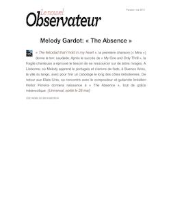 Melody Gardot: « The Absence »
