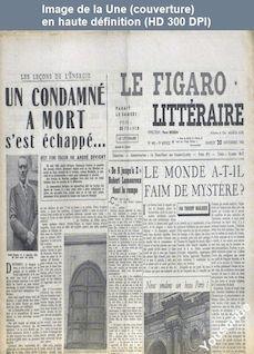 LE FIGARO LITTERAIRE  numéro 448 du 20 novembre 1954