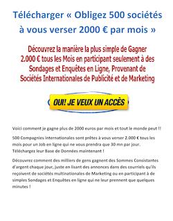 Obligez 500 sociétés à vous verser 2000 € par mois pdf gratuit