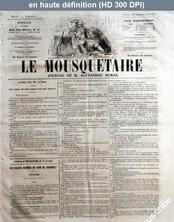 LE MOUSQUETAIRE  numéro 317 du 13 novembre 1855