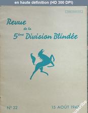 REVUE DE LA 5 EME DIVISION BLINDEE numéro 22 du 15 août 1947