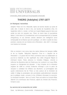 THIERS (Adolphe) 1797-1877