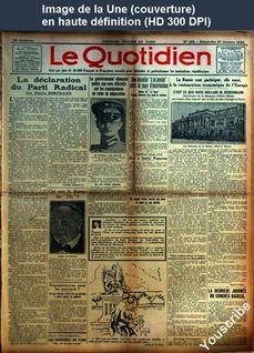 LE QUOTIDIEN  numéro 130 du 21 octobre 1923