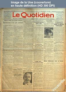 LE QUOTIDIEN  numéro 611 du 12 octobre 1924